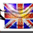 Girl with a Flag of United Kingdom — Stock Photo