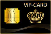 VIP Card with a golden crown — 图库照片