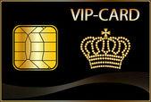 Vip-kaart met een gouden kroon — Stockfoto