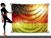 Girl with a Flag of Germany — Stock Photo