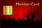 Member Card — Stock Photo
