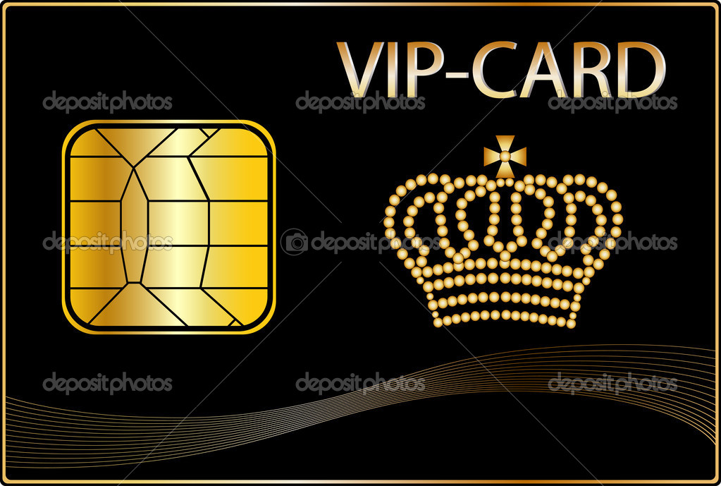 vip card with a golden crown stock photo pdesign 2921980. Black Bedroom Furniture Sets. Home Design Ideas