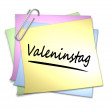 German Memo with Paper Clip - Valentinstag — Stock Photo #2944890