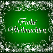 German christmas frame with snowflakes — Stockfoto
