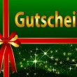 German Gift Certificate — Stock Photo