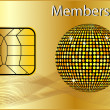 membership card — Stock Photo