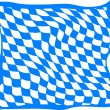 Illustration of a bavarian flag - Stock Photo