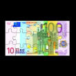 Stock Photo: Euro Banknote Puzzle