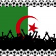 Stock Photo: Soccer fans Algeria