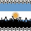 Soccer fans Argentina — Stock Photo