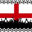 Soccer fans England - Foto de Stock  