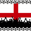 Soccer fans England - Stockfoto