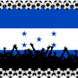 Soccer fans Honduras - Stock Photo