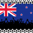 Soccer fans New Zealand — Stock Photo