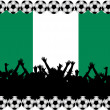 Stock Photo: Soccer fans Nigeria