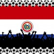 Soccer fans Paraguay — Stock Photo #2946206