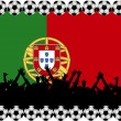 Soccer fans Portugal — Stock Photo