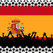 Soccer fans Spain — Foto Stock