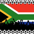 Soccer fans South Africa — Stock Photo