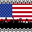 Soccer fans USA — Stock Photo
