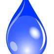 Illustration of a blue waterdrop — Stock Photo