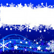 Blue christmas background- space for your text — Stock Photo