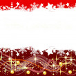 Red christmas background- space for your text — Stockfoto