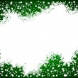 Green christmas background- space for your text — Stock Photo
