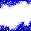 Blue christmas background- space for your text - Foto Stock