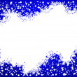 Blue christmas background- space for your text - Stock fotografie