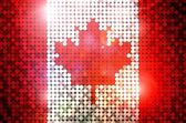 Sparkling Flag of Canada — Stock Photo