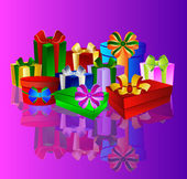 Colorful present background — Stock Photo