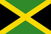 National Flag Jamaica — Stock Photo