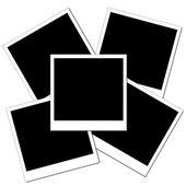 Üç temiz polaroid fotoğraf yığını — Stok fotoğraf