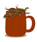 Illustration of chocolate milk — Stock Photo