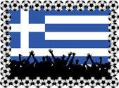 Fotboll fläktar grekland — Stockfoto