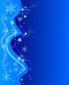 Illustration of a blue Christmas Background with — Stock Photo