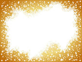 Golden christmas background- space for your text — Stock Photo