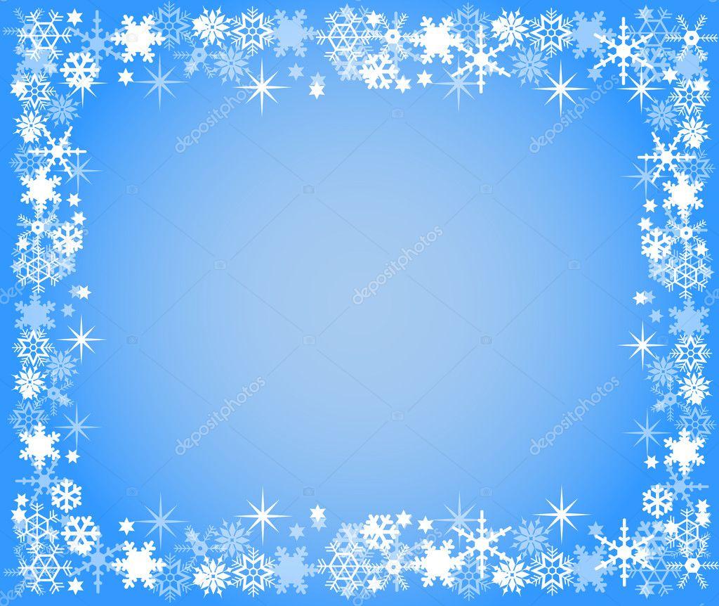 cadre de no 235 l bleu avec des flocons de neige photo 2945161