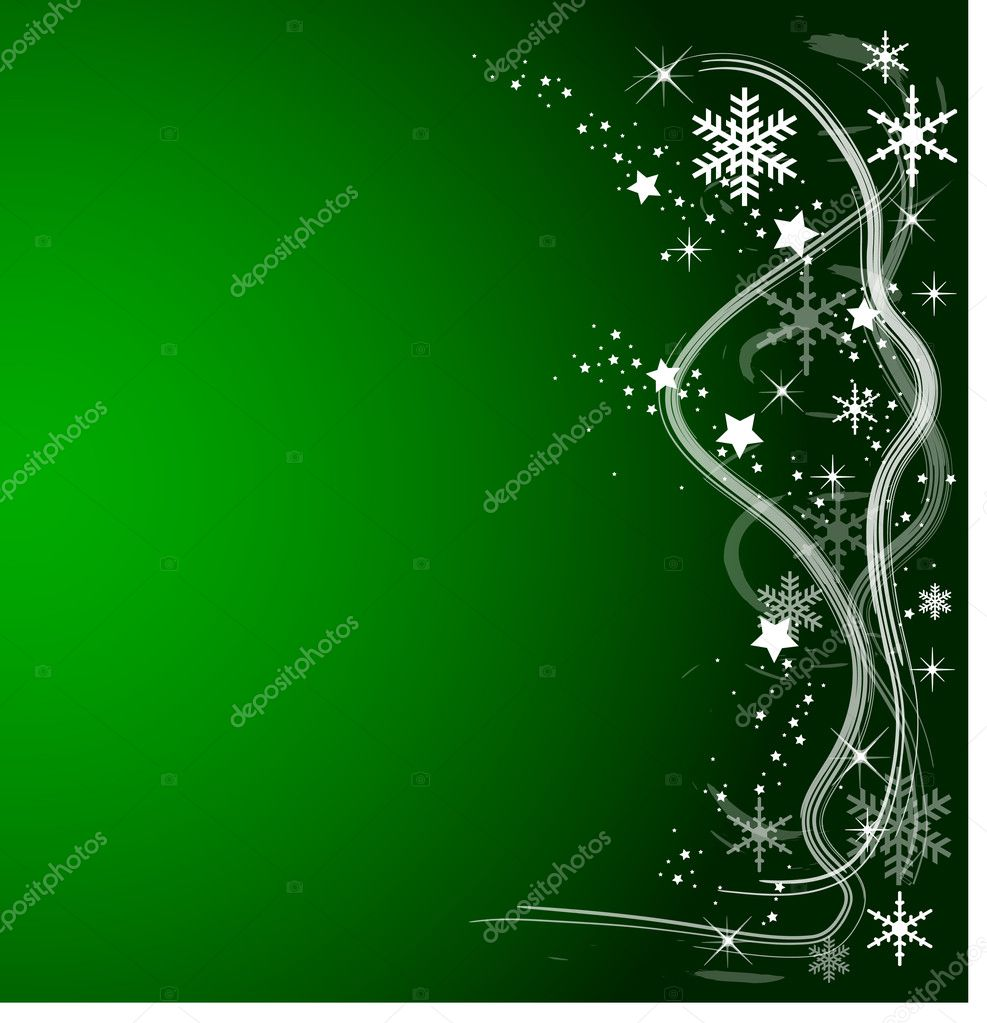 Green Christmas Background — Stock Photo #2946365