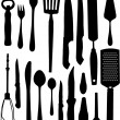 Stock vektor: Set of kitchen object
