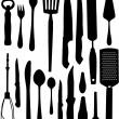 sada kuchyňské objektu — Stock vektor