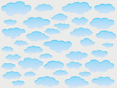 Vector clouds — Stock Vector