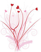Heart flowers — Stock Vector