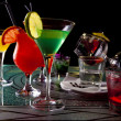 bunte cocktails — Stockfoto