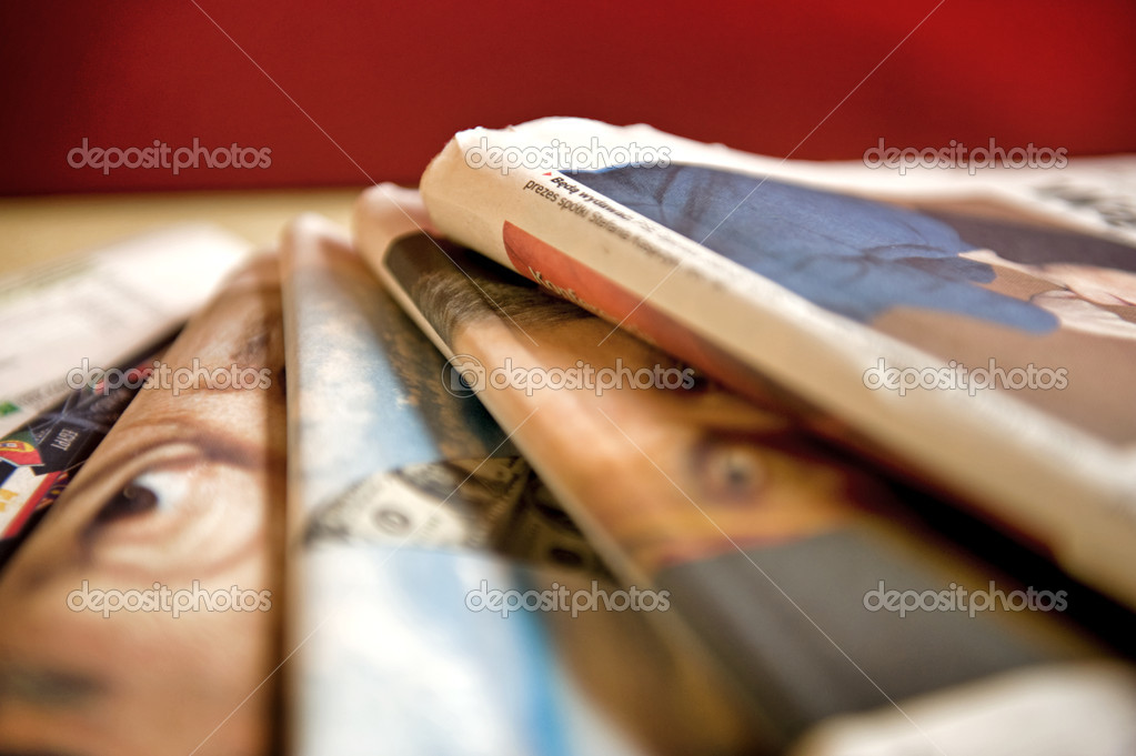 Stack of business newspapers  — Stock Photo #2795761