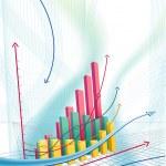 abstrakt business diagram — Stockvektor