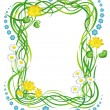 Royalty-Free Stock Vector Image: Frame with the grass and flowers
