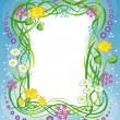 Frame with the grass and flowers — Stock Vector #3311830