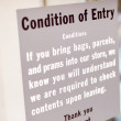 Condition of Entry — Stock Photo